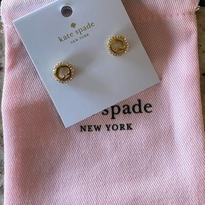 Authentic Kate spade earrings (gold)